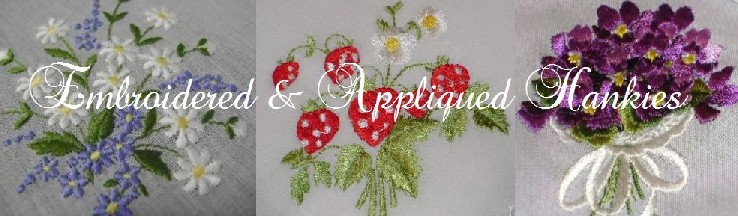 Appliqued and Embroidered Handkerchiefs