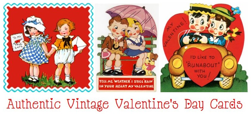 Vintage valentines day cards